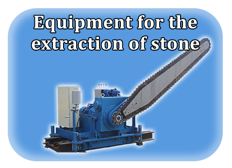 Equipment for the extraction of stone